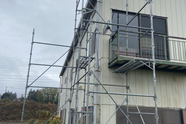 横浜市で足場の組み立て工事