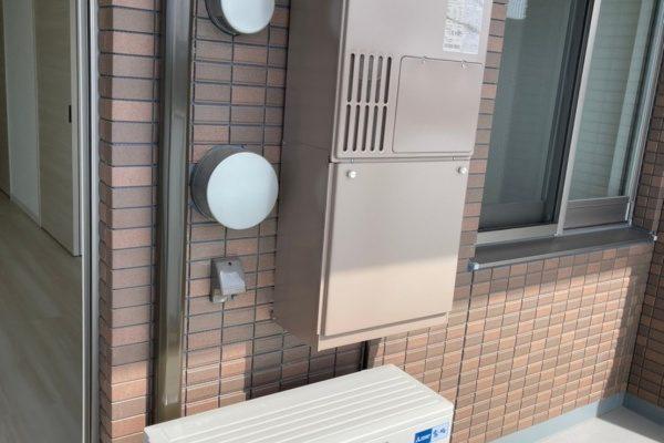 新築アパートの新規エアコン取付